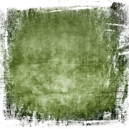watercolor painted wall texture old paper grunge background in green color