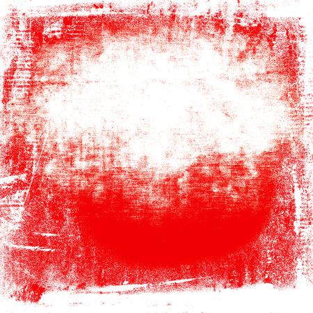 polish flag: red painted wall paper texture grunge background, white and red polish flag colors and copy space
