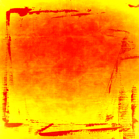 painted wall: yellow and red painted wall paper texture background, red grunge frame, may use as abstract christmas background