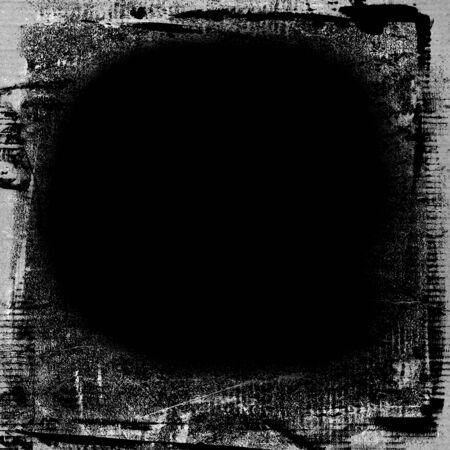 black board: grunge paint texture background black board with white brush strokes frame