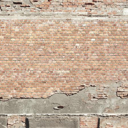 concrete texture: red brick wall texture urban background Stock Photo