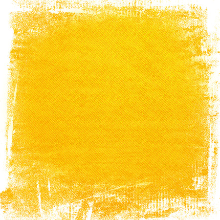yellow watercolor paint grunge background canvas texture background abstract lines pattern and brush strokes Stock Photo