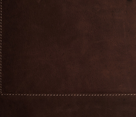 dark brown background Stitched leather texture