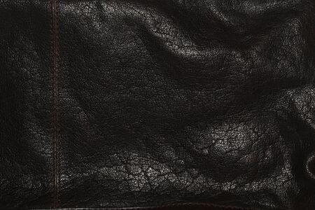 D Leder Textur schwarzen Hintergrund Standard-Bild - 48782011