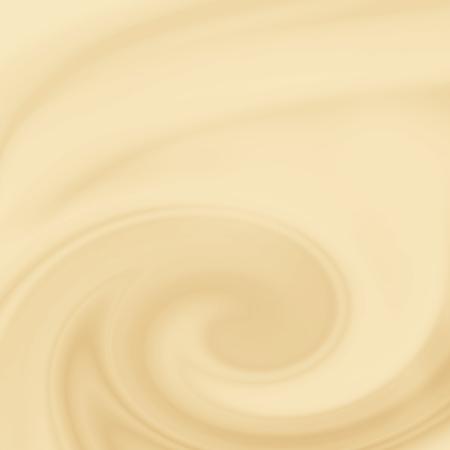 beige background, white chocolate or milk and coffee creamy swirl background Stock Photo