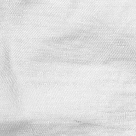 Zerknittert Leinwand Textur weißen Hintergrund Standard-Bild - 50211569