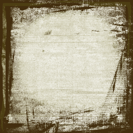 Aquarell malen Pinselstriche Rahmen auf weiße Wand Papier Hintergrund Standard-Bild - 50211575