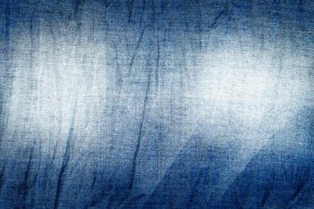 blue jeans textuur achtergrond, gerimpelde denim textuur achtergrond Stockfoto
