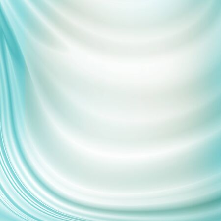 white and blue azure color curtain background woven satin fabric texture