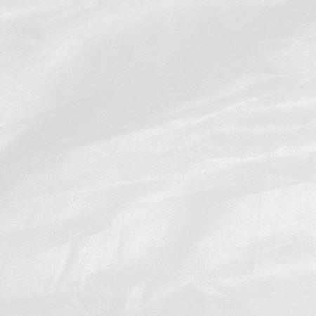 witte achtergrond gerimpelde polyester stof textuur achtergrond Stockfoto