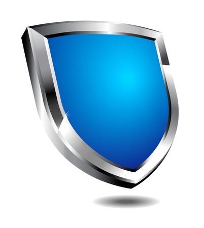 computer hacker: Scudo blu moderno