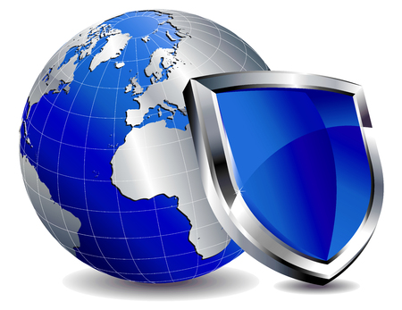 secure security: Shield Protection Illustration