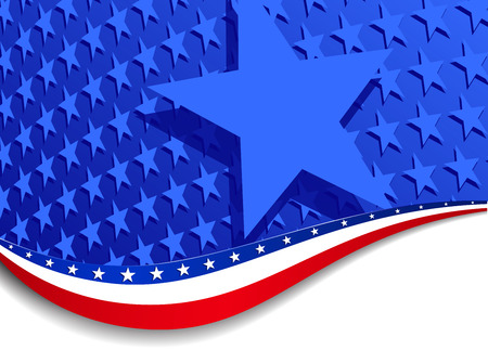 Stars & Stripes Landscape Background Large Star Vector