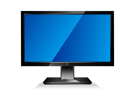 Computer wide flat screen PC monitor Stock Vector - 9333052