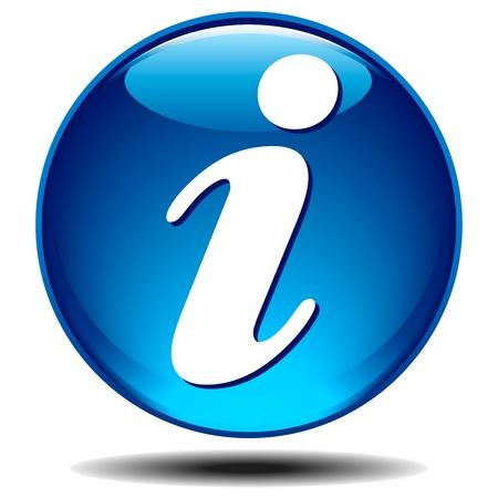 一般的な光沢のある情報を青いアイコン  イラスト・ベクター素材