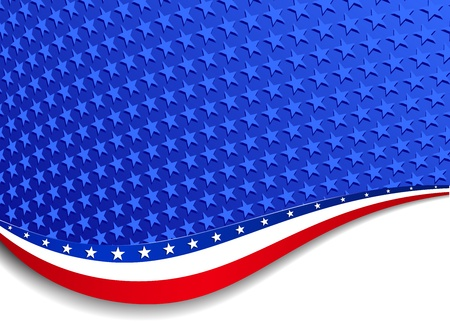 Stars & Stripes Landscape Background Vector