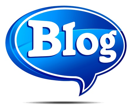 blog icon: Blog Speech Bubble Illustration
