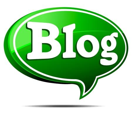 3 D 緑のブログ音声バブル