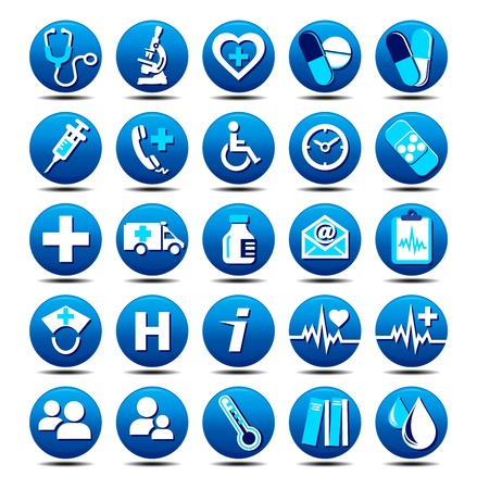 Medical Icons Stock Vector - 9335097