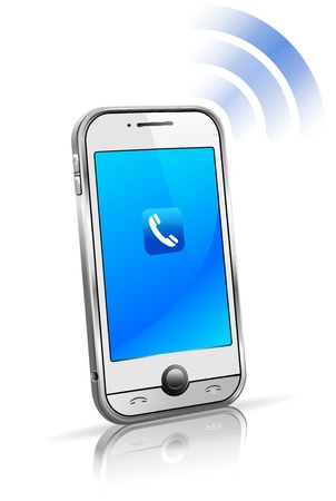 Cell Smart Mobile Phone 3D Connection