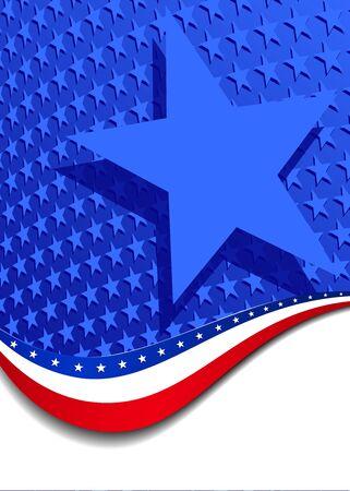 単一の星と & 星条旗