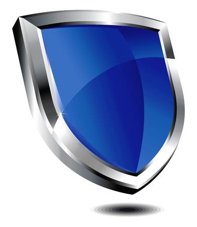 Bouclier bleu Vecteurs
