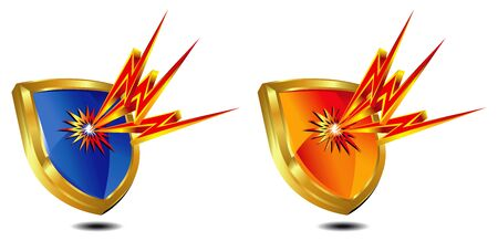 Shield Protection shown by lightning