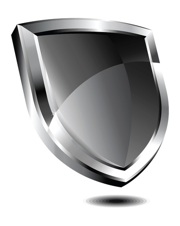 Silver Shield Stock Vector - 9340481