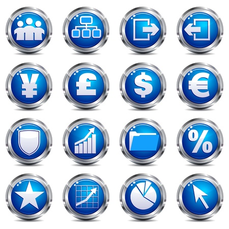 currency symbols: Web Site & Internet Icon - SET THREE Illustration