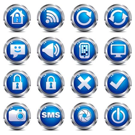 no cell: Sitio Web de Internet & icono - establecer dos