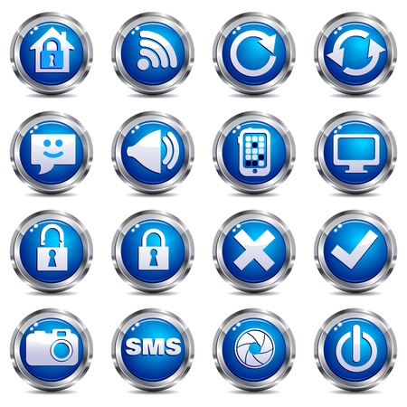 pushbuttons: Web Site & Internet Icon - SET TWO