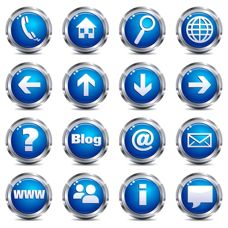 back button: Web Site & Internet Icon - SET ONE