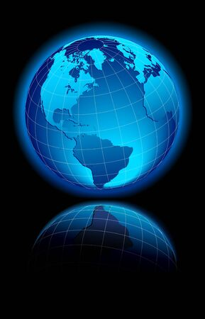 Globe World America, Europe Stock Vector - 9354464