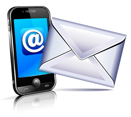 cellphone icon: Send a letter icon - mobile phone Illustration