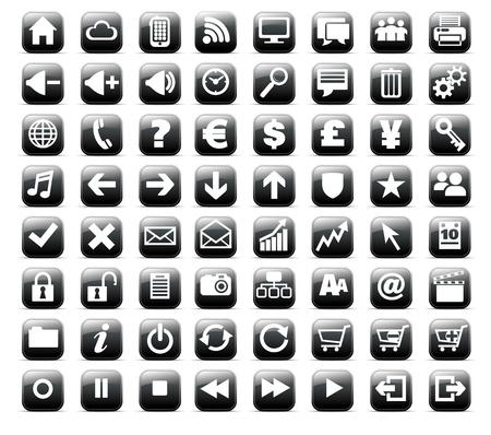 Nueva Web y medios de comunicación Internet botón icono