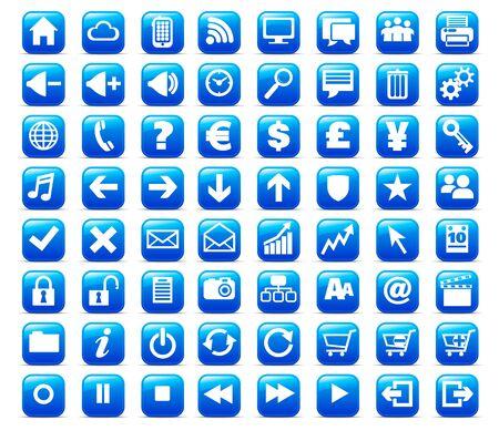 e commerce icon: Nueva Web y medios de comunicaci�n Internet bot�n icono