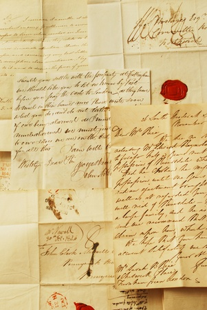 Old letters from 1800 Stock Photo - 10001507