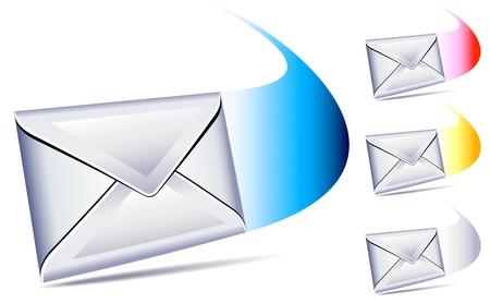 送信された電子メールとヒューという音と到着