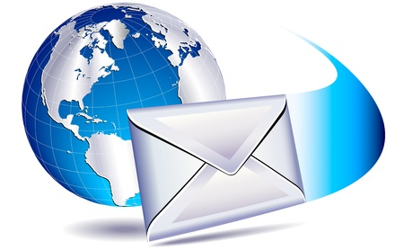 correo postal del mundo Ilustración de vector