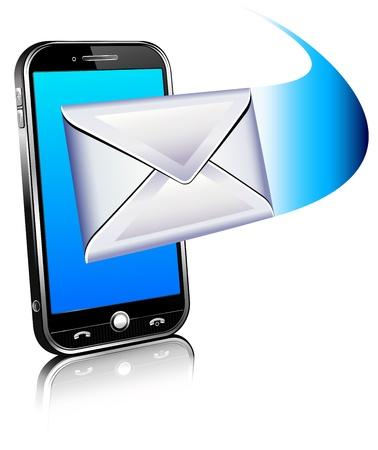 newletter: Invia un icona lettera - cellulare
