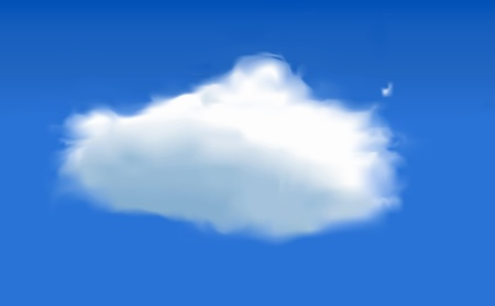 cumulus: Cloud - Vector cloud in sky - created using mesh tool
