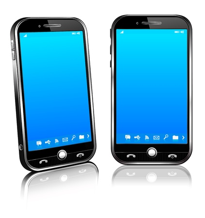 zellen: Handy Smart Mobile Phone 3D-und 2D