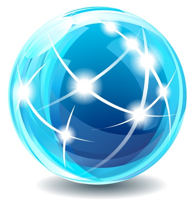 internet logo: Communications Globe