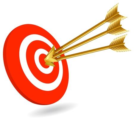 doelstelling: Succes Stock Illustratie