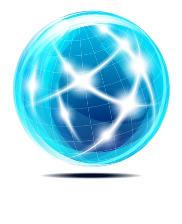 Abstract Communication Globe