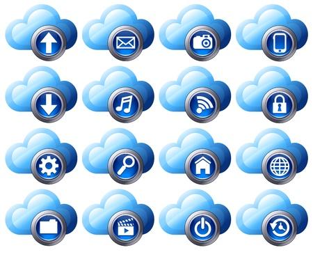 preferencia: Nube de iconos de la computaci�n en nube virtual de