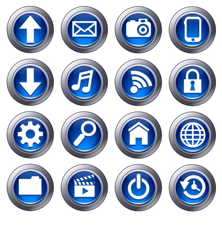Cloud Computing icons - virtual cloud Vector