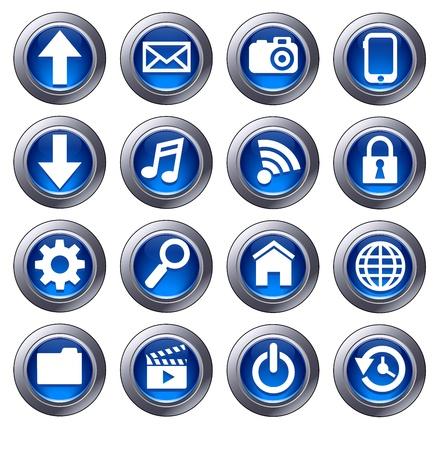 preferencia: Los iconos de Cloud Computing - nube virtual