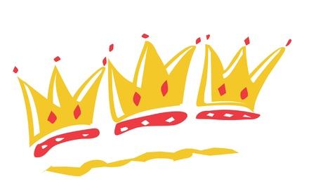 corona navidad: Tres coronas