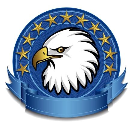 us air force: Eagle Banner blue Illustration